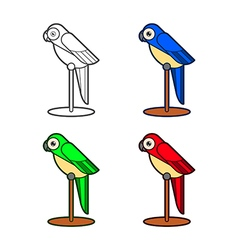 Macaw bird collection vector