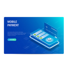 mobile payment isometric concept financial vector image