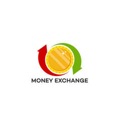 Money transfer logo exchange logo template vector