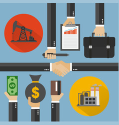 Oil business modern concept design flat vector