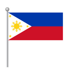 Philippines flag template background realistic vector
