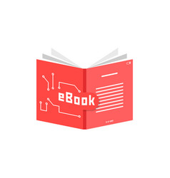 red ebook icon vector image
