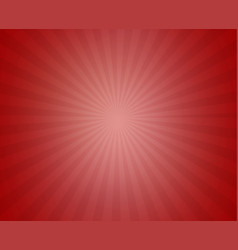 red sunny ray background vector image