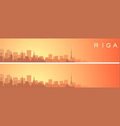 Riga beautiful skyline scenery banner vector