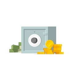 Safe box with money isolated vector image