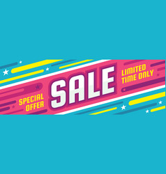 sale discount - concept horizontal banner vector image