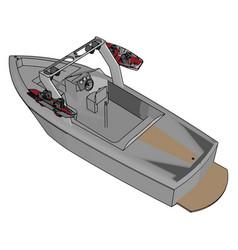 saving boat on white background vector image