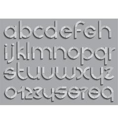 Set letters font type vector