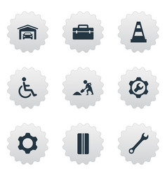 set simple vehicle icons elements vehicle vector image