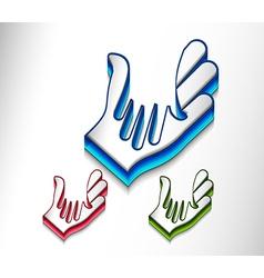 shaking hands design vector image