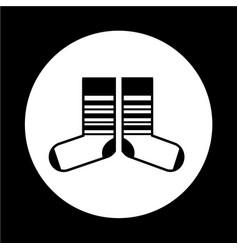 Sock icon vector