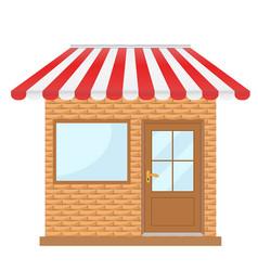 Storefront with window and door facade the vector