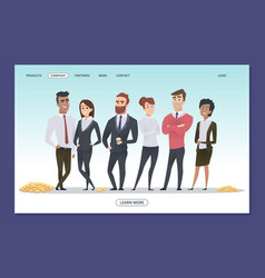 successful business team teamwork web page vector image