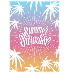 summer colorful vintage postrer vector image