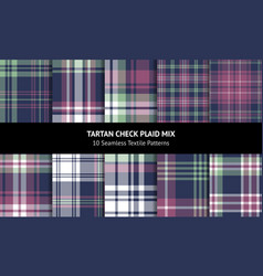 tartan plaid pattern set vector image