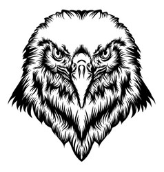 Tattoo eagle head with good animation vector