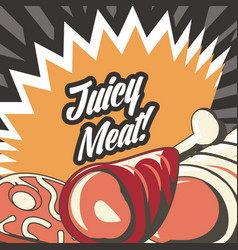 turkey meat design vector image vector image