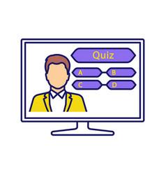 Tv quiz show color icon vector