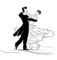 Waltz of love vector