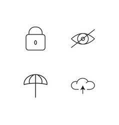 Web linear icons set simple outline icons vector