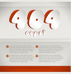 Web page mistake 404 design concept vector