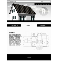 Website template - elegant design vector image