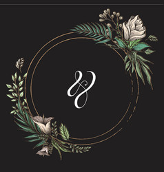 wedding title template circle vector image