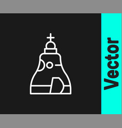 White line the tsar bell in moscow monument icon vector