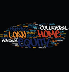Z home equity loan text background word cloud vector