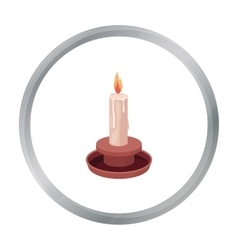 Candle icon in cartoon style isolated on white vector image vector image