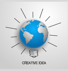 creative idea earth vector image