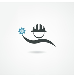 engineer icon vector image vector image