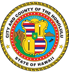 Hawaii City Seal vector image vector image