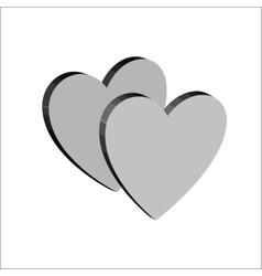 Heart couple t shirt 3 vector