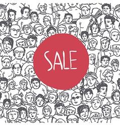 sales crowd concept vector image