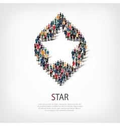 star people sign 3d vector image vector image