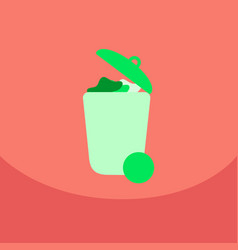 Trash recycle bin garbage flat vector