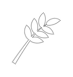 tree branch sign black dotted icon on vector image