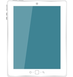 white tablet computer vector image vector image