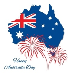 Happy Australia Day design Map of vector image vector image