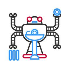 multitasking futuristic droid vector image