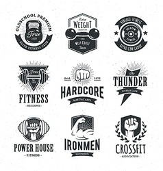 Retro Fitness Emblems vector image vector image