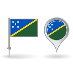 Solomon islands pin icon and map pointer flag vector
