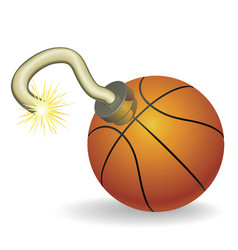 basketball countdown vector image vector image