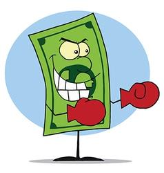 Mad Dollar Bill vector image vector image