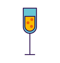 champagne cup cartoon vector image