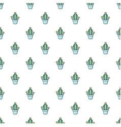 hug cactus pattern seamless vector image vector image