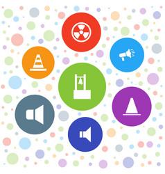 7 alert icons vector