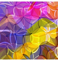 abstract background of colored flowers vector image