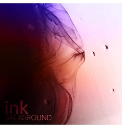 Abstract background of multicolored fluid ink vector